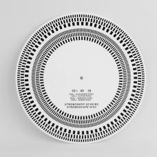 """12"""" Vinyl Record Strobe Disc & Turntable Alignment Protractor"""